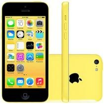 "iPhone 5c Apple 8GB Amarelo 4G Tela 4"" Retina Câmera 8MP iOS 8 Proc. A6"