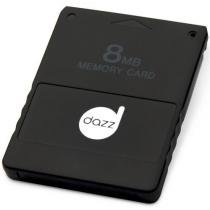 Memory Card Para Playstation 2 8mb Preto Dz - 621231 Dazz 8211787