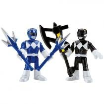 Mini Figuras Imaginext - Go Go Power Rangers - Rangers Azul e Preto - Fisher - Price 8073046