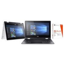 Notebook 2 em 1 Acer Aspire R11 Intel Quad Core 4GB 1TB LED 11,6 ´ Touch Screen + Pacote Office 365 2198675