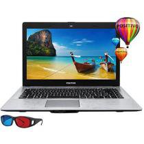 "Notebook Positivo Stilo XRI2950 Intel Dual Core 2GB 32GB Flash LCD 14"" 3D Linux"