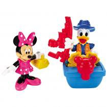 Pack com 2 Figuras - Mickey Mouse Clubhouse - Pescaria - Fisher - Price - Disney 8108579