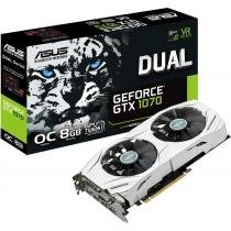 Placa de Vídeo ASUS GeForce GTX 1070 Dual 8GB GDDR5 PCI Express 3.0 DUAL - GTX1070 - O8G - 8GB 9077322