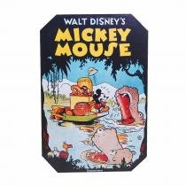 PLACA MICKEY MOUSE DISNEY MDA COLORIDA 30X20CM 8253392