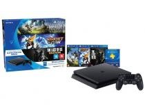 Playstation 4 500GB Sony Playstation Hits Bundle 1 Controle 3 Jogos 1 Voucher PS Plus 3 meses CUH - 2014A. 0430759