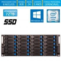 Servidor - Storage Silix X1200H24 V6 Intel Xeon 3.5 Ghz / 8GB / SSD / 72TB / RAID / Hot - Swap / Win 10 7160328