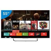 "Smart TV LED 55"" Sony 4K/Ultra HD 3D XBR-55X855C Conversor Digital Wi-Fi 4 HDMI 3 USB"