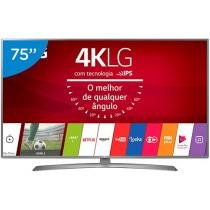 "Smart TV LED 75"" LG 4K/Ultra HD 75UJ6585 WebOs Conversor Digital Wi-Fi 4 HDMI 2 USB"