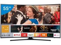 "Smart TV LED Curva 55"" Samsung 4K/Ultra HD 55MU6300 Conversor Digital Wi-Fi 3 HDMI 2 USB DLNA"