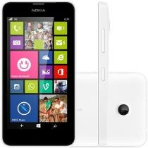 "Smartphone Microsoft Lumia 630 Dual 3G Câm. 5MP - Windows Phone Tela 4.5"" Proc. Quad Core Tv Digital"
