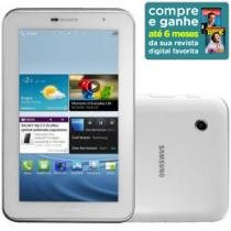 "Tablet Samsung P3100 Android 4.0 3G Wi-Fi - Bluetooth 16GB Tela 7"" Câmera 3.2MP GPS USB"