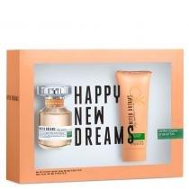 United Dreams Stay Positive Eau de Toilette Benetton - Perfume 50ml + Loção Corporal 100ml 9381006