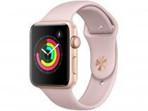 Apple Watch Series 3 42mm GPS Integrado Bluetooth Pulseira Esportiva 8GB Alumínio Resistente a Água