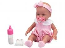 Boneca Roma Babies Primeira Mamadeira - com Acessórios Roma Brinquedos