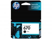 Cartucho de Tinta HP 670 Preto Original