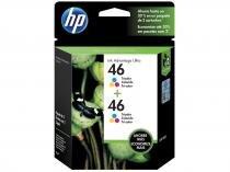 Cartucho de Tinta HP Colorido 46 Original P/ HP 2529 2029 2020 2520 4729 5738