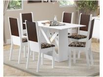 Mesa de Jantar 6 Lugares Retangular Madesa  - Moline