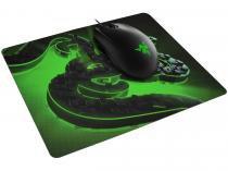 Mouse Gamer Razer 6400 DPI 3 Botôes Abyssus Lite - + Goliathus Mobile Construct com Mouse Pad
