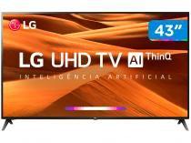 "Smart TV 4K LED 43"" LG 43UM7300PSA Wi-Fi HDR  - Inteligência Artificial 3 HDMI 2 USB"