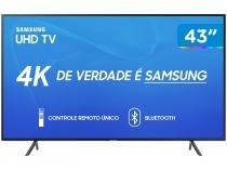 "Smart TV 4K LED 43"" Samsung UN43RU7100 Tizen - Wi-Fi Bluetooth HDR 3 HDMI 2 USB"