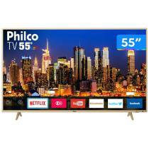 "Smart TV 4K LED 55"" Philco PTV55F61SNC - Wi-Fi 3 HDMI 2 USB"