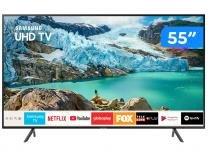 """Smart TV 4K LED 55"""" Samsung UN55RU7100GXZD - Wi-Fi Bluetooth 3 HDMI 2 USB"""