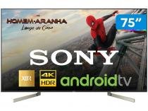 "Smart TV 4K LED 75"" Sony XBR-75X905F Android  - Wi-Fi HDR Conversor Digital 4 HDMI 3 USB"