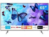 "Smart TV QLED 65"" Samsung 4K/Ultra HD Q6FN Tizen Modo Ambiente Linha 2018"