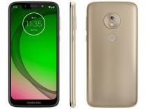 "Smartphone Motorola G7 Play 32GB Ouro 4G - 2GB RAM Tela 5,7"" Câm. 13MP + Câm. Selfie 8MP"