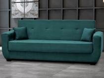 Sofá-cama 4 Lugares Veludo Reclinável - Matrix Roberta