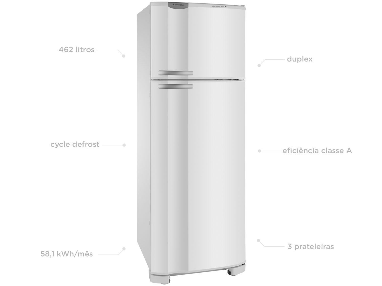 Refrigerador Electrolux Duplex DC49A com Sistema Multiflow 462L - Branco - 110V - 3