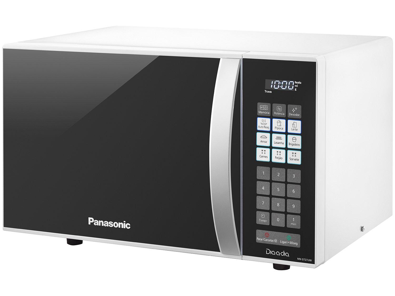 Forno de Micro-ondas Panasonic NN-ST27JW com Receitas Pré-Programadas Branco – 21 L - 220v - 3