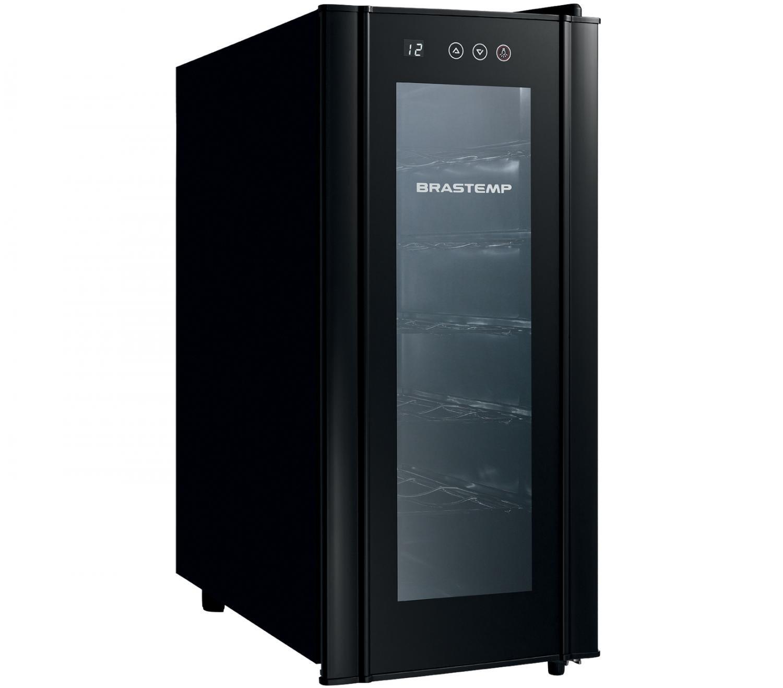 Foto 2 - Adega Climatizada Brastemp 12 Garrafas - All Black BZC12B Controle Digital de Temperatura
