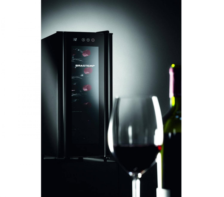 Foto 3 - Adega Climatizada Brastemp 12 Garrafas - All Black BZC12B Controle Digital de Temperatura