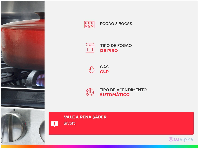 Fogão Electrolux 5 Bocas 76LBU com Queimadores Robustos – Branco - 2