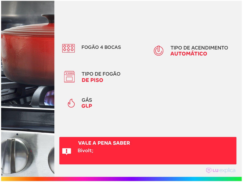 Fogão Electrolux 4 Bocas 52LBU com Vidro Interno Removível – Branco - 3