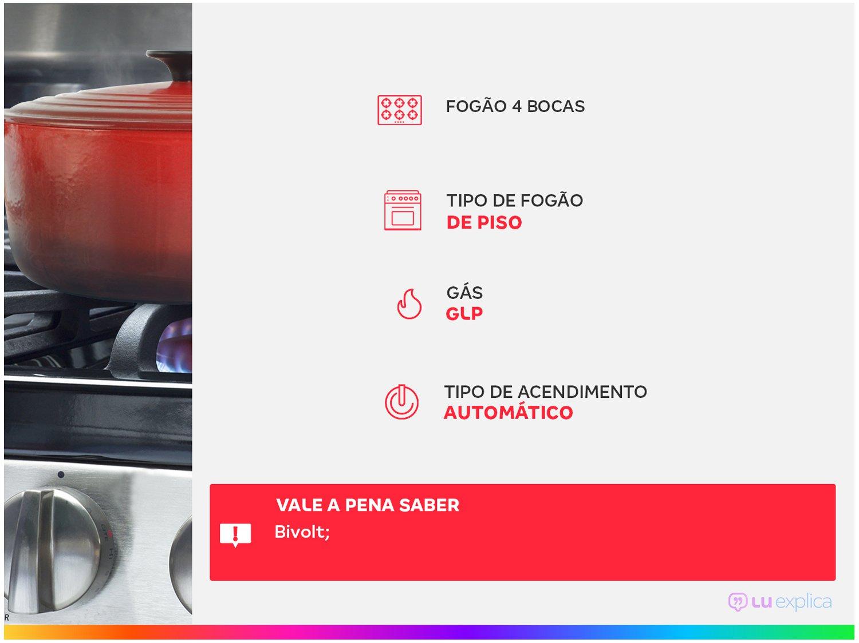Fogão Electrolux 4 Bocas 52LXU com Queimadores Robustos – Silver - 2