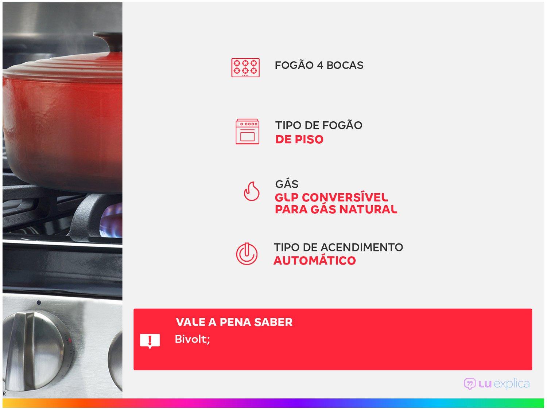 Fogão Brastemp 4 Bocas BFO4NAB Clean Branco - Bivolt - 3