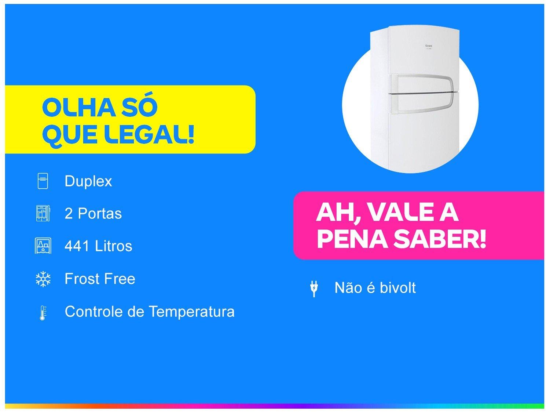 Refrigerador Consul CRM54BB com Filtro Bem Estar 441L - Branco - 220V - 4