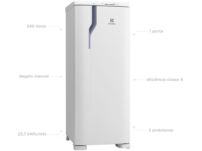 Refrigerador Electrolux Degelo Prático RE31 com Controle de Temperatura 240L- Branco - 110v - 3