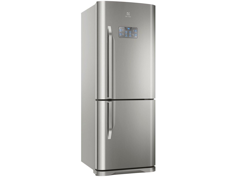 Refrigerador Electrolux Bottom DB53X Frost Free com Painel Blue Touch 454L - Inox - 220V