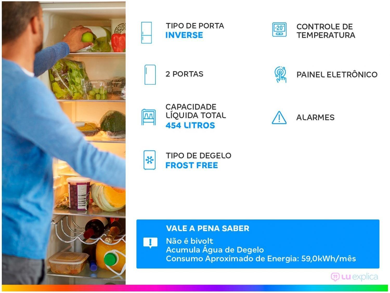 Refrigerador Electrolux Bottom DB53X Frost Free com Painel Blue Touch 454L - Inox - 220V - 4