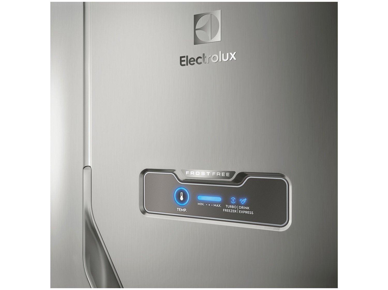 Refrigerador Electrolux DFX41 Frost Free com Turbo Congelamento 371L - Inox - 127V - 12