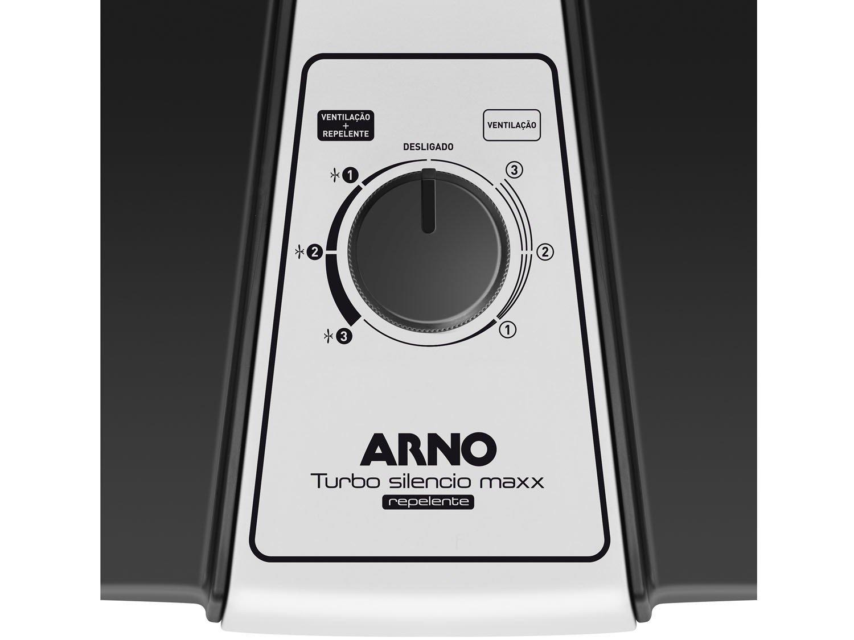 Ventilador Arno Turbo Silencio Maxx Repelente - Preto/Prata - 220v - 8