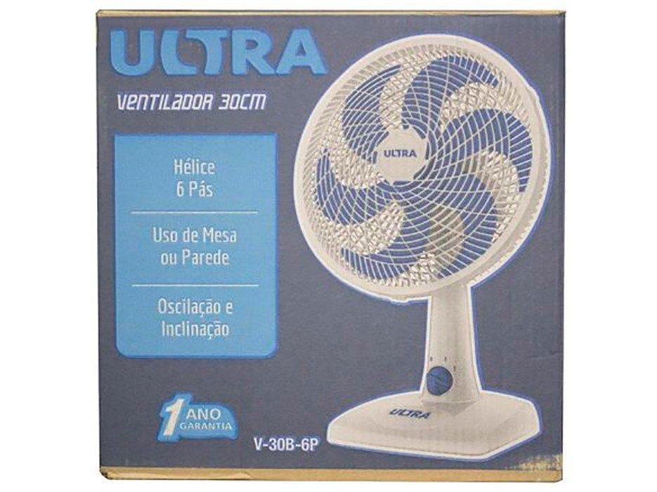 Ventilador de Mesa Mondial Ultra V-30-6P 30cm com 6 Pás e 3 Velocidades - Branco/Azul - 110V - 4