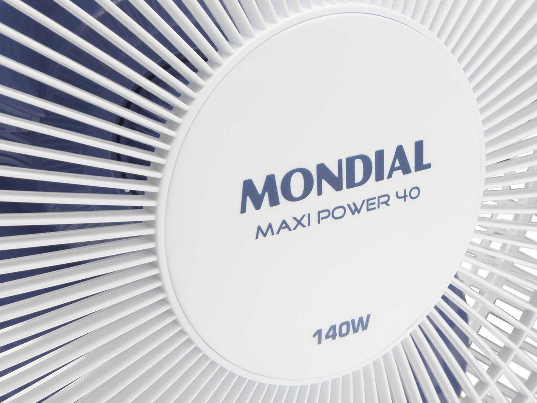 Ventilador de Mesa Mondial Maxi Power V-45-4P-NP Branco/Azul - 40cm - 110v - 6