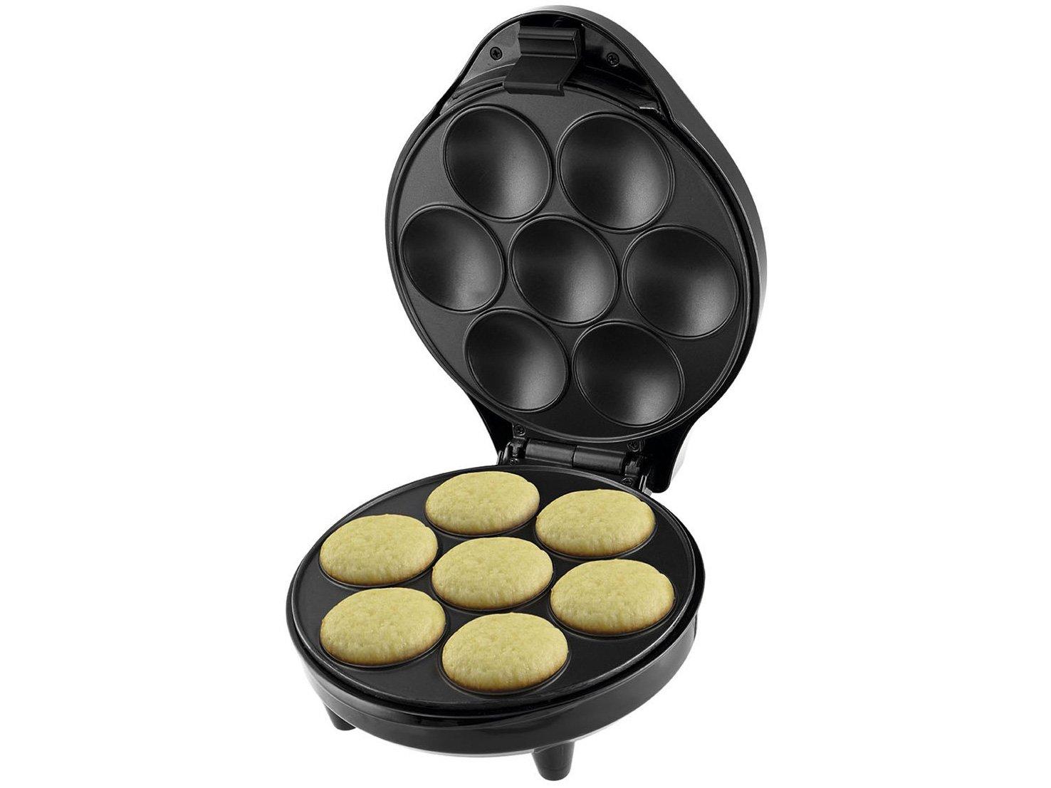 Máquina de Cupcake Britânia Cupcake Maker 3 para 7 Cupcakes - Preta - 220v