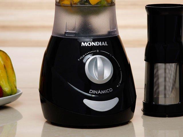 Liquidificador Mondial Dinâmico Filter Premium L-34 com 500W e Copo em SAN Cristal - Preto - 110v - 4