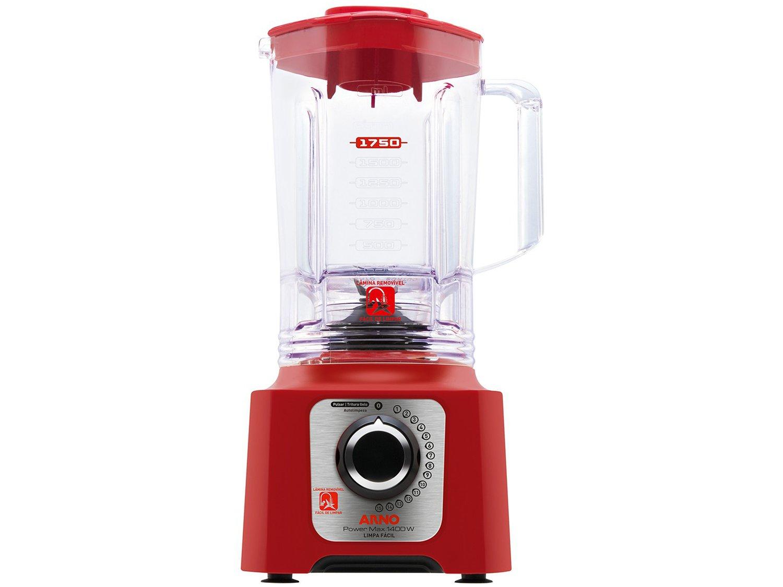 Liquidificador Arno Power Max 1400 Limpa Fácil LN56 com 15 Velocidades 1400W – Vermelho - 110V - 8