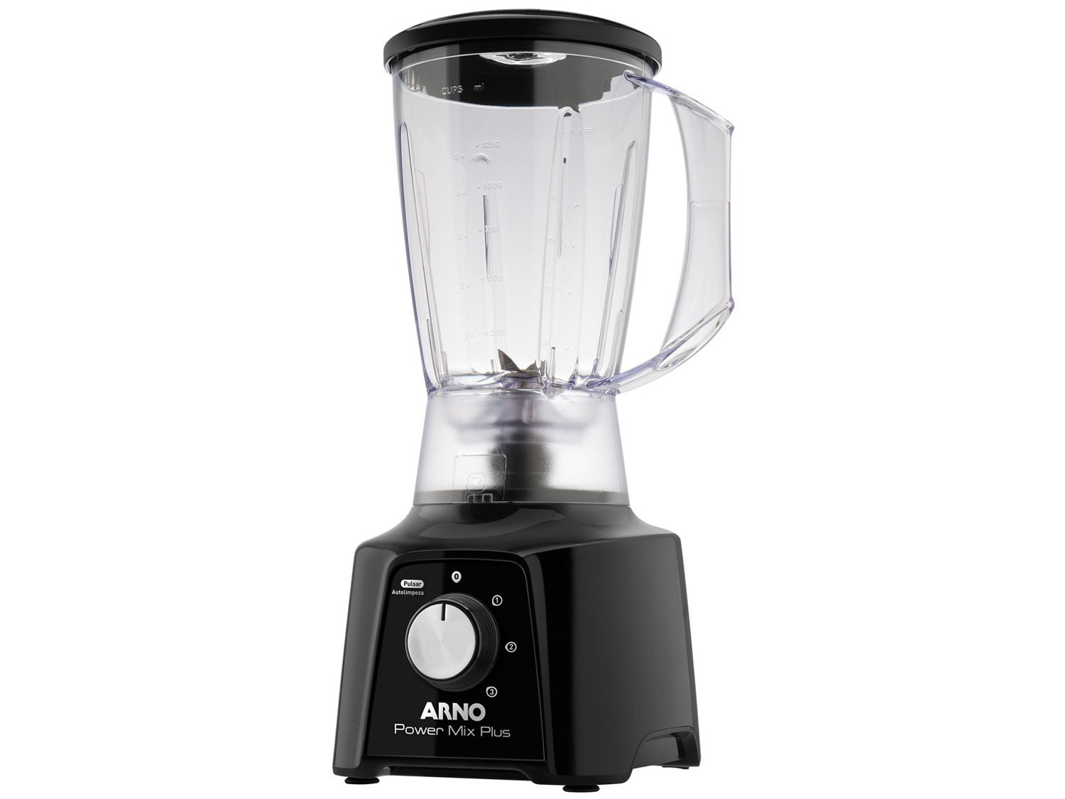 Liquidificador Arno Power Mix Plus LQ20 com 3 Velocidades 550W – Preto - 110V